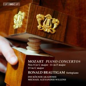 W.A.MOZART:PIANO CONCERTOS Nos 8 in C major · 11 in F major · 13 in C major
