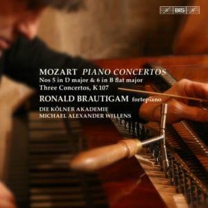 W.A.MOZART:PIANO CONCERTOS Nos 5 in D major & 6 in Bb major – Three concertos after JC Bach
