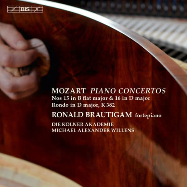 W.A.MOZART:PIANO CONCERTOS Nos 15 in B flat major & 16 in D major, Rondo in D major
