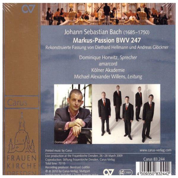 J.S. Bach: St. Mark Passion BWV 247