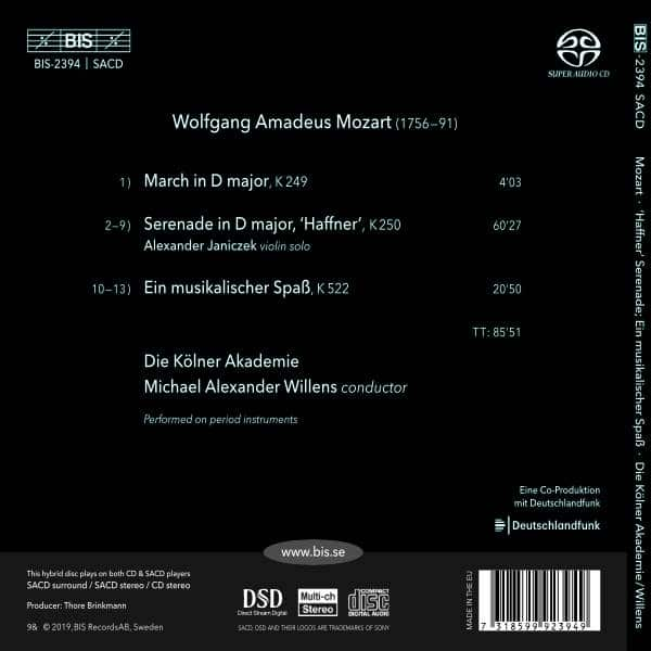 Mozart: Haffner Serenade, Ein Musikalischen Spaß