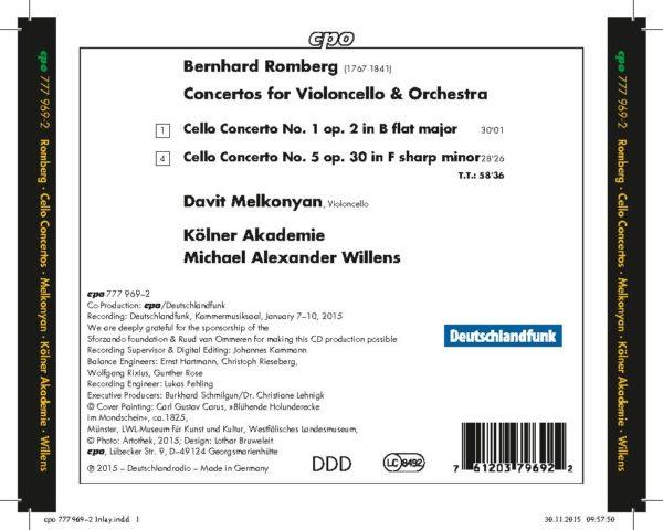 Bernhard Romberg: Cello Concertos 1 & 5