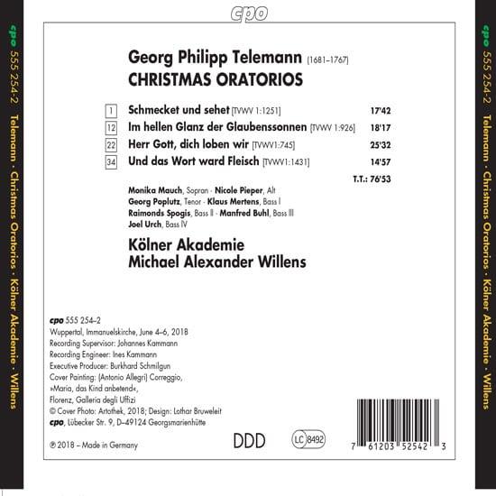 Georg Philipp Telemann: Christmas Oratorios