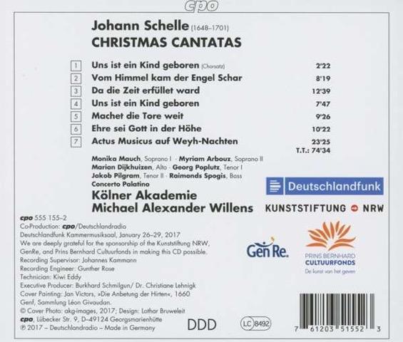 Johann Schelle Christmas Cantatas Inlay
