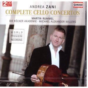 Andrea Zani Complete Cello Concertos Fron